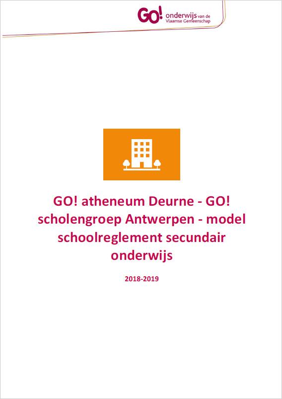 schoolreglement front page